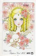 TELECARTE JAPON CHIBA ART ROSE Peinture De Macoto Takahashi Mangaka Et Illustrateur Japonais - Malerei