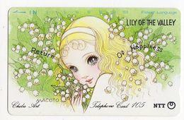 TELECARTE JAPON CHIBA ART LILY Peinture De Macoto Takahashi Mangaka Et Illustrateur Japonais - Malerei