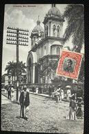 Postcard Circulated San Salvador Church, From San Salvador To Kasai , Belgium Congo 1914, Postmark From Kinshasa Transit - Salvador