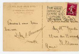 """ARDECHE CP 1934 ST AGREVE  OMEC DAGUIN """"SAINT AGREVE / ARDECHE / CENTRE DE / TOURISME / CURE D'AIR 1050 M"""" - 1921-1960: Periodo Moderno"""