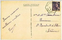 ARDECHE CP SD 1941 ARLEBOSC AGENCE POSTALE ( 614 HABITANTS EN 1946 ) - 1921-1960: Periodo Moderno