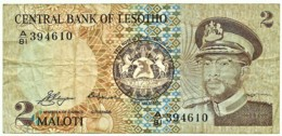 Lesotho - 2 Maloti - 1981 - Pick 4.a - Sign. 1 - Serie A/81 - - Lesotho