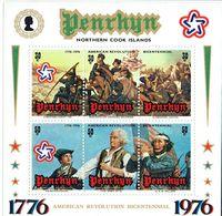 PENRHYN 1996 American Revolution MS MUH - Penrhyn