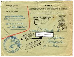 33832 - AVEC RETOUR DE MAGENTA - Covers & Documents