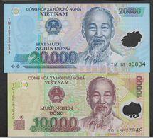 Set Vietnam 10000 20000 10,000 20,000 Dong 2012 - 2017 UNC Polymer - Viêt-Nam