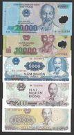 Set Vietnam 1000 2000 5000 10000 20000 Dong Mixed Year UNC - Viêt-Nam