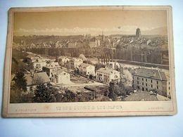 PHOTO GRAND CDV BERNE ET LES ALPES SUISSE Phot F CHARNAUX A GENEVE - Ancianas (antes De 1900)