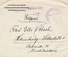 GG Frühe Post: 14.11.39 Feldpost Nach Hamburg DDPO 74 - Besetzungen 1938-45