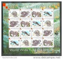 WWF REPTIELEN SLANGEN SNAKE REPTILES HRVATSKA 1999 M. 500-03 X 4  PF/MNH - Ongebruikt