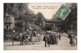 75 PARIS - 19ème, Buttes Chaumont, L'entrée Du Parc, Rue Manin - Arrondissement: 19