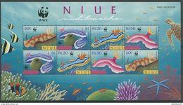 Niue 1999 WWF Naturschutz Nacktkiemer Korallenriff Block 128  M. 922-25 X 2  Postfrisch - Ongebruikt