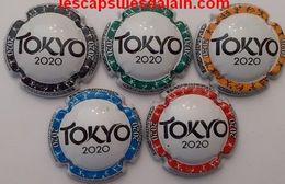 5 BELLES CAPSULES CHAMPAGNE GENERIQUE TOKYO 2020 NEWS - Champán