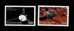 Guinee 1999 Sc # 1610 / 1611  MNH **  Pioneer 10, Viking 1 - Africa