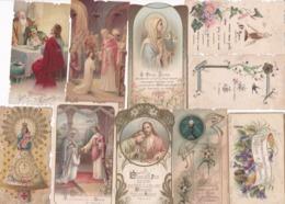 Lot 10 IMAGES PIEUSES ( Majorité En 7x10) SOUVENIR DE COMMUNION - Images Religieuses
