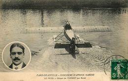Le Pecq * Aviation * Départ De L'aviateur CHEMET Sur Avion Borel * Paris Deauville * Concours D'avions Marins - Le Pecq