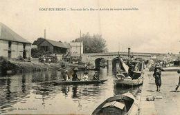 Nort Sur Erdre * Souvenir De La Fête * Arrivée Des Canots Automobiles * Péniche Batellerie - Nort Sur Erdre