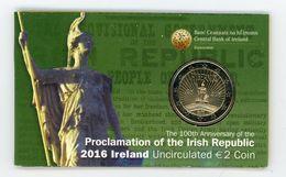 2 Euros Commemorative Irlande  En Coincard 2016 - Irlanda