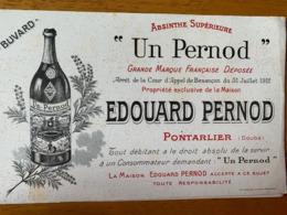 2 BUVARDS EDOUARD PERNOD - Liqueur & Bière