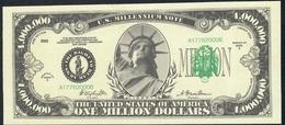 U.S.A. FANTASY NOTE NLP 1 MILLION  DOLLARS Serie MILLENIUM 2000 UNC. - USA