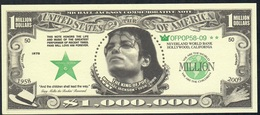 U.S.A. FANTASY NOTE NLP 1 MILLION  DOLLARS  2009 Michael Jackson UNC. - USA