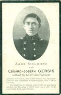 WO1 / WW1 - Doodsprentje Eduard Joseph Gersis - Stokkel / Ramskapelle  - Gesneuvelde - Décès