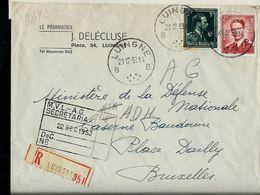 Doc. De LUINGNE - B B - Du 21/12/53 En Rec. - Marcophilie