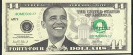 U.S.A. FANTASY NOTE NLP44  DOLLARS  2013 IN OBAMA WE TRUST  UNC. - USA
