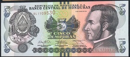 HONDURAS P98b 5 LEMPIRAS  2014 UNC. - Honduras