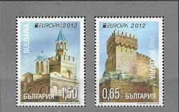 2012 Bulgarien  Mi. 5032-3**MNH Bloc Stamps Europa: Besuche - Europa-CEPT