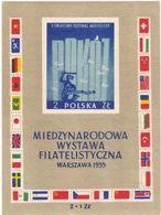Polen, 1955,  941 Block 18,  MNH **, Briefmarkenausstellung, Warschau. Stamp Exhibition, Warsaw. - Blocks & Sheetlets & Panes