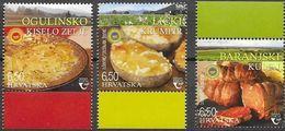 CROATIA, 2020, MNH , FOOD, PROTECTED AGRI-FOODS, MEATS, POTATO, 3v - Food