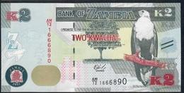 ZAMBIA P56 2 KWACHA 2015 UNC. - Zambie
