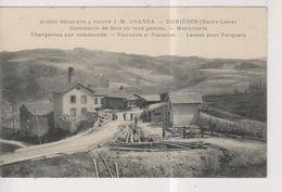 CPA-43-Haute Loire- DUNIERES- Scierie Mécanique à Vapeur- J.M. Charra- Commerce De Bois En Tous Genres- Menuiserie... - Frankreich