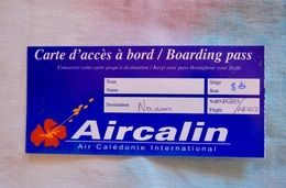 Boarding Pass AIRCALIN - Boarding Passes