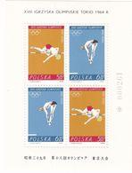 Polen, 1964, 1520/21 Block 34,  MNH **, Olympische Winterspiele, Innsbruck. Winter Olympics, Innsbruck. - Blocks & Sheetlets & Panes