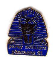 Pin's  Rallye Pharaons 91 Paray Aventure  EGF  Ferrié (Tres Bon ;Mauvais Rendu Du Scan ) - Rallye