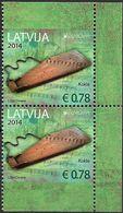 2014 Lettland   Mi. 904 DO DU   **MNH   Europa National Musical Instruments - 2014