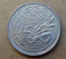 1995 ITALIA 100 Lire Moneta Commemorativa FAO   - Circolata - 1946-… : Republic