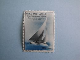 Bateaux 1955 Saint Marin  Yv 396 ** MNH  Michel 529  Scott 358  SG  490   Ships Voilier - Saint-Marin