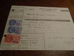 1958- AIN  ( DIVONNE LES BANS Pour NICE ) 3 TP/ FISCAUX  N° 158b + N° 146 + N° 118 = 10,00 Eur + 3 Photos - Steuermarken