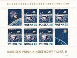 Polen, 1971,  2122 Block 47,  MNH **,Mondauto Lunochod-1 - Blocks & Sheetlets & Panes