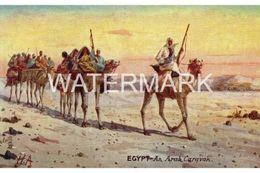 EGYPTIAN AN ARAB CARAVAN OLD COLOUR  POSTCARD  EGYPT TUCK OILETTE EGYPT SERIES NO 7750 - Egypt
