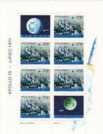 Polen, 1971,  2123 Block 48,  MNH **, Mondauto Lunochod-1, Apollo 15. - Blocks & Sheetlets & Panes
