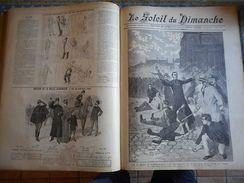 RELIURE 1 AN 52 NUMEROS LE SOLEIL DU DIMANCHE BEAUX ARTS SALON RUSSIE VENISE TONKIN MAROC FOURMIES ETC.. - 1850 - 1899