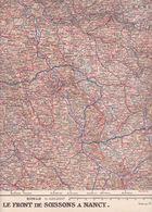 Carte Du Front De Soissons (02) à Nancy (54) Au 1er Janvier 1916 Supplément à L'ILLUSTRATION - Cartes Géographiques