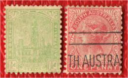 SOUTH AUSTRALIA - 1899 - EFFIGIE DELLA REGINA VITTORIA - USATI - Gebruikt