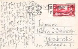 ITALIEN - ANSICHTSKARTE 1933 FIRENZE-FERROVIA - GELSENKIRCHEN /ak790 - Marcofilía