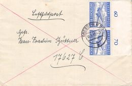 DEUTSCHES REICH - LUFTFELDPOST BRIEF 1943 DRESDEN /ak818 - Poste Aérienne