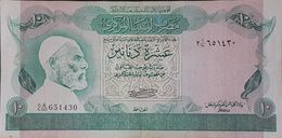 ED0610 - Libya 10 Dinars Banknote 1980 #2 A/110 651430 P.46a - Libyen