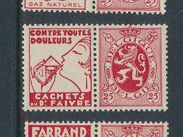 BELGIUM COB PU15 MNH - Publicités